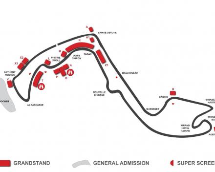 Map F1 Circuit Monaco